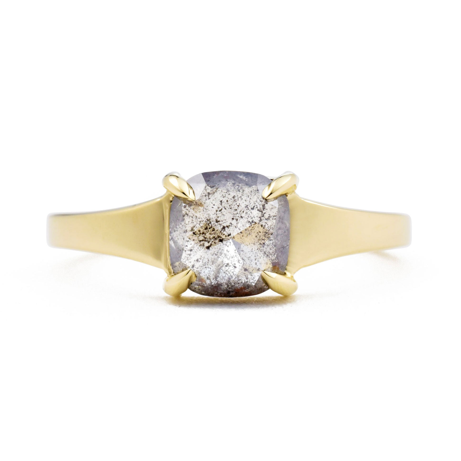 Astrid Gray Cushion Diamond Engagement Ring