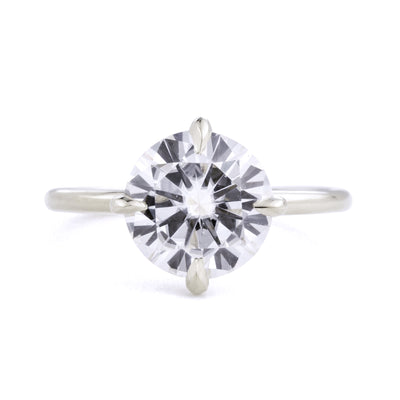 Vera 2ct Diamond Solitaire Engagement Ring in white gold