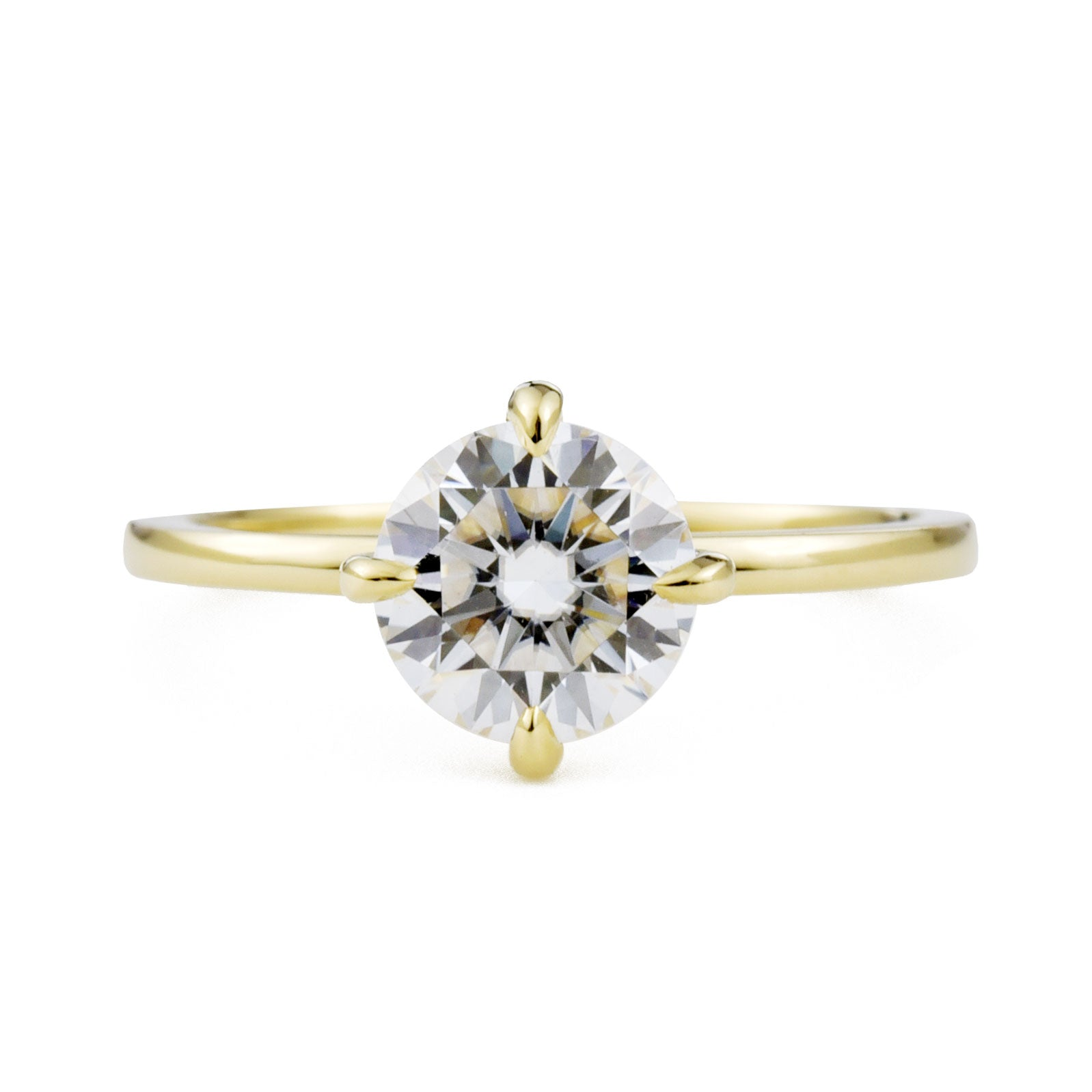 Vera 1ct Moissanite Solitaire Engagement Ring in yellow gold