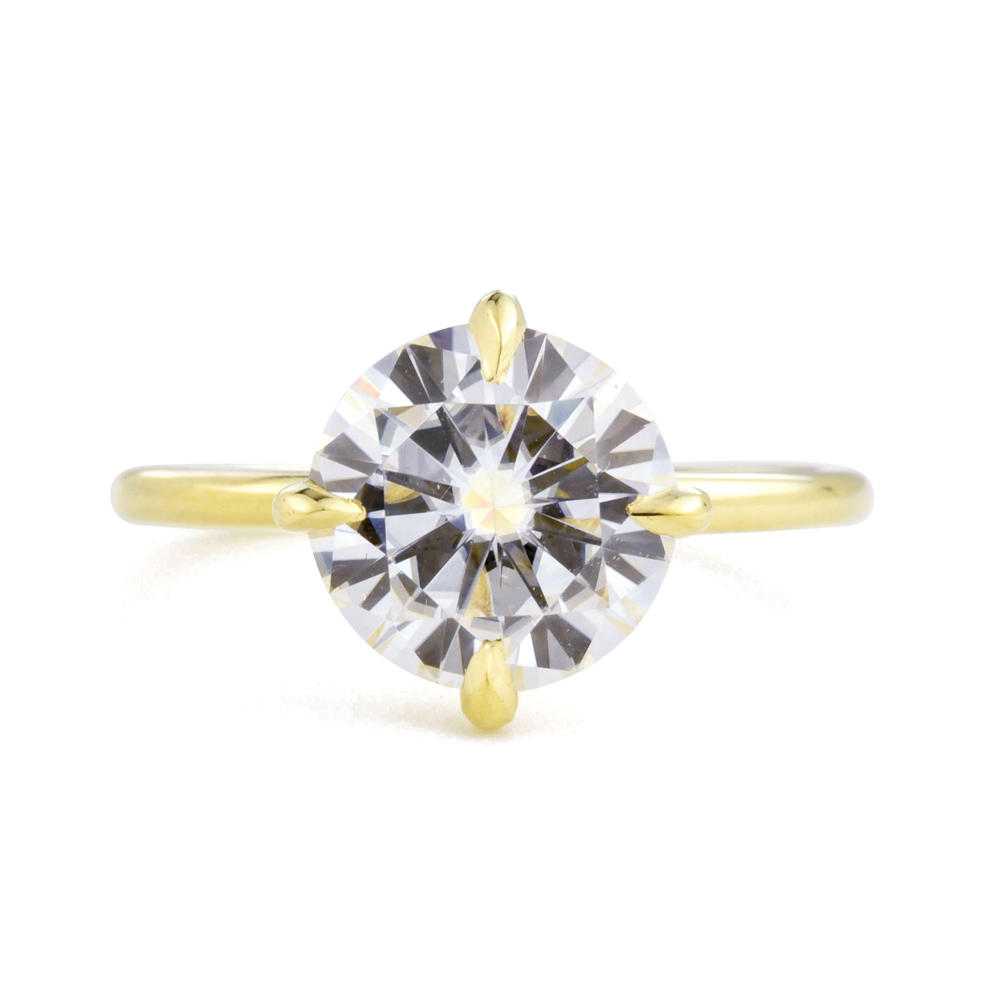 Vera 2ct Diamond Solitaire Engagement Ring in yellow gold