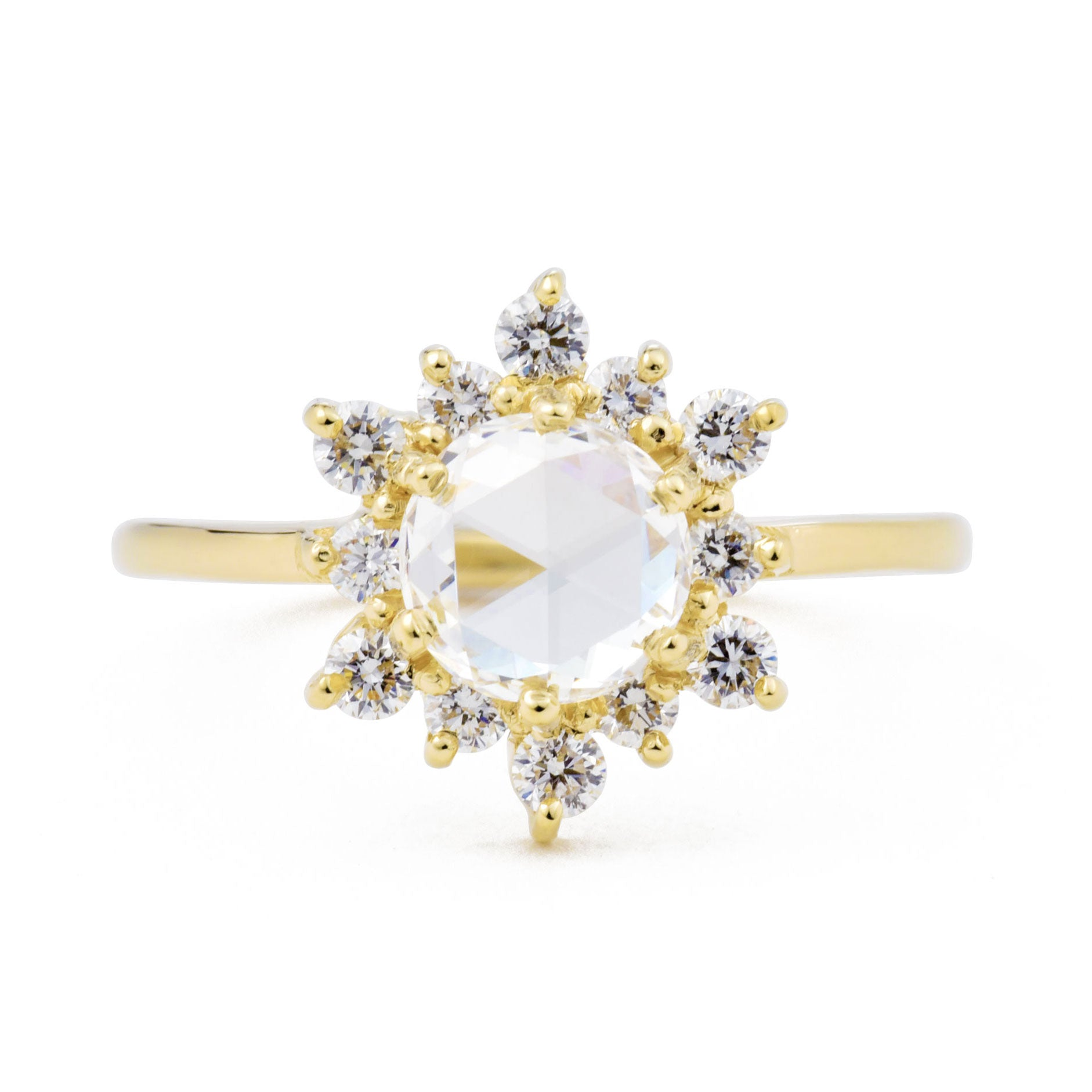 Marisol-colorless-rose-cut-diamond-engagement-ring-with-halo