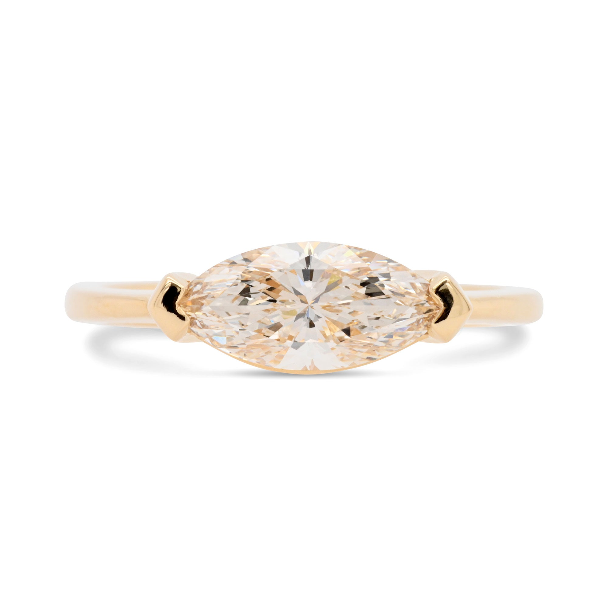 1.01ct Eva Marquise Champagne Diamond Ring (Size 6)