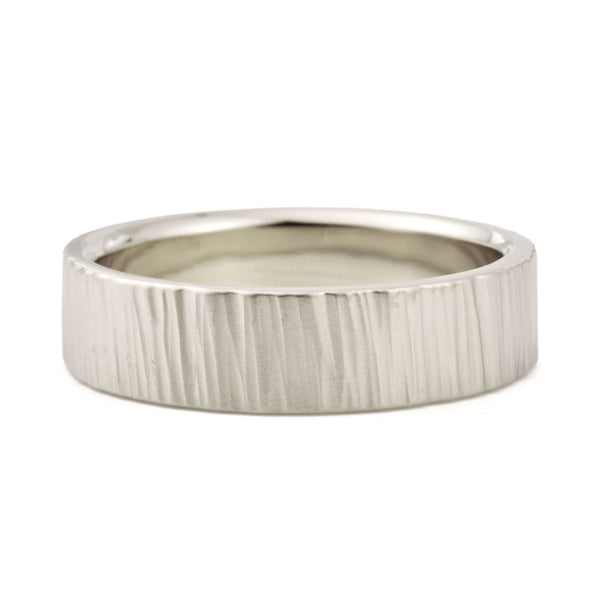 5mm Birch Wedding Band in yellow gold