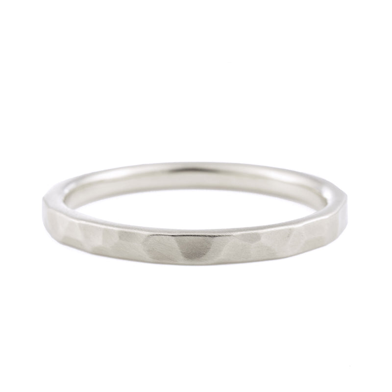 2mm Hammered Wedding Band