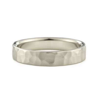 4mm Hammered Wedding Band