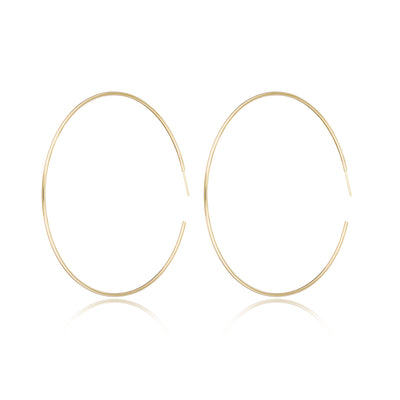 "14K Gold Extra Large Hoops (2.5"")"