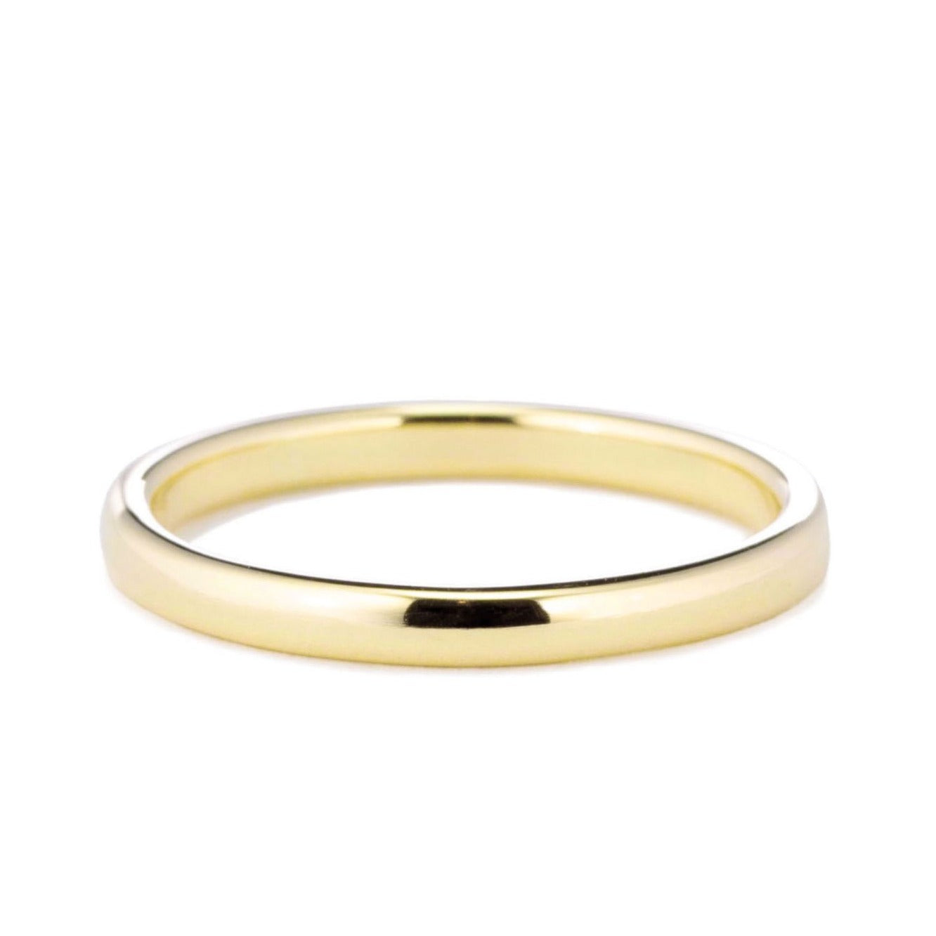 Classic Domed Wedding Band in yellow gold