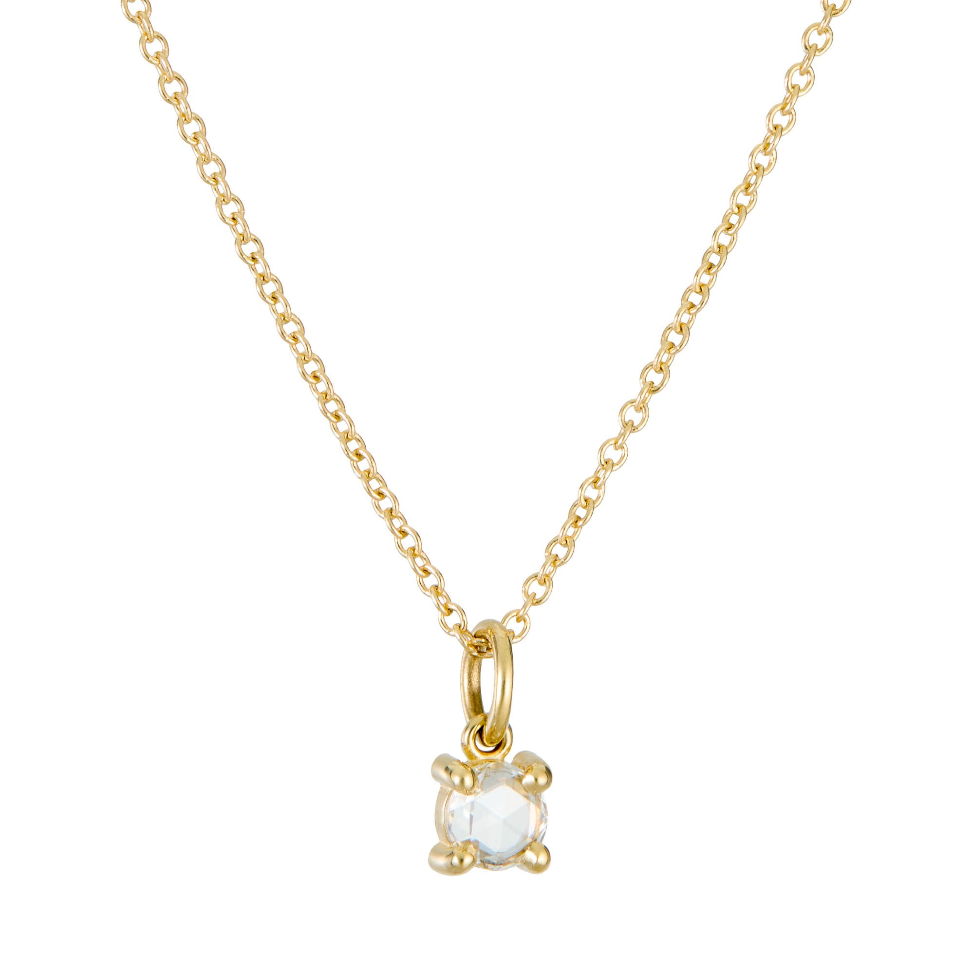Rose Cut Diamond Necklace (0.15ct)