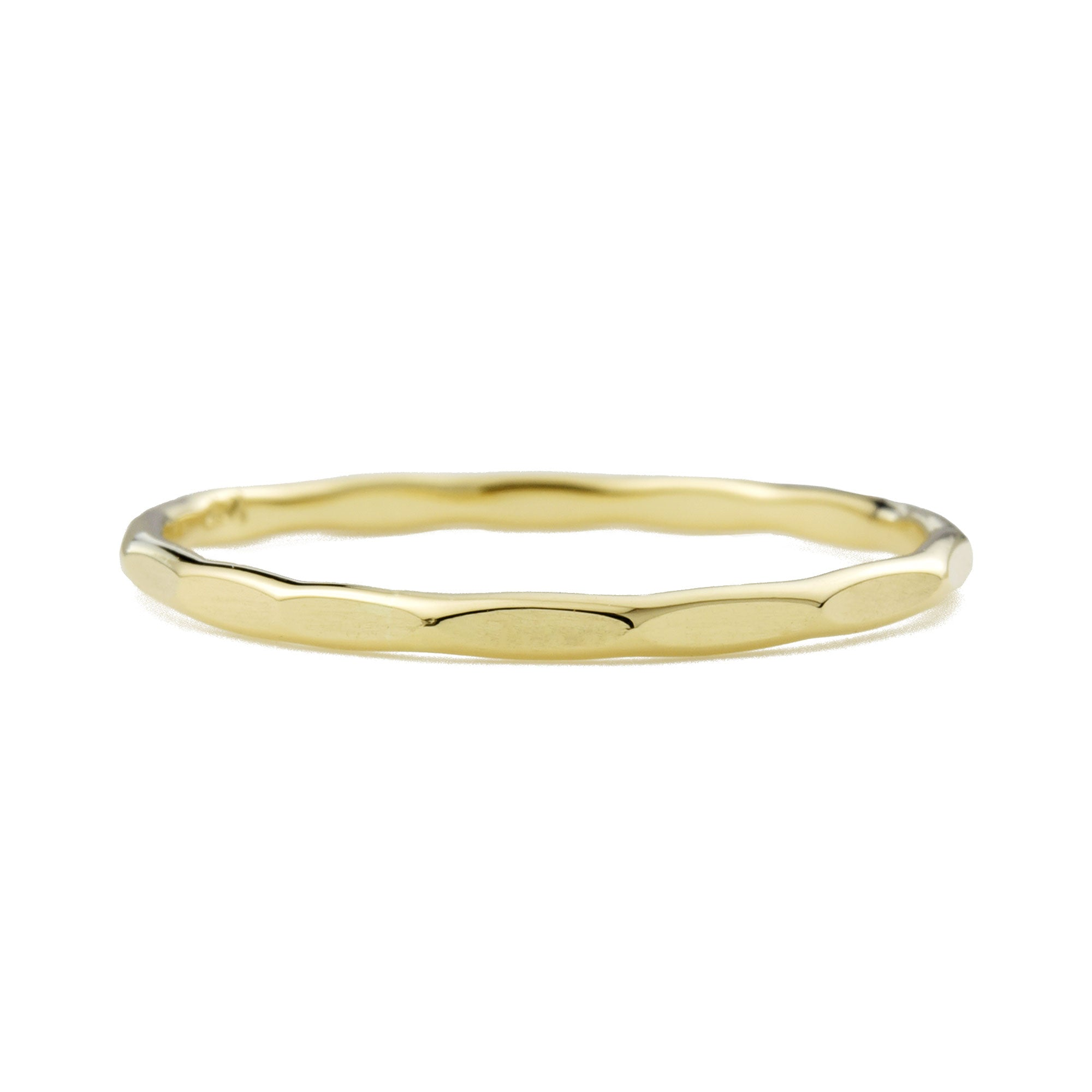 14K Gold Faceted Stacking Ring