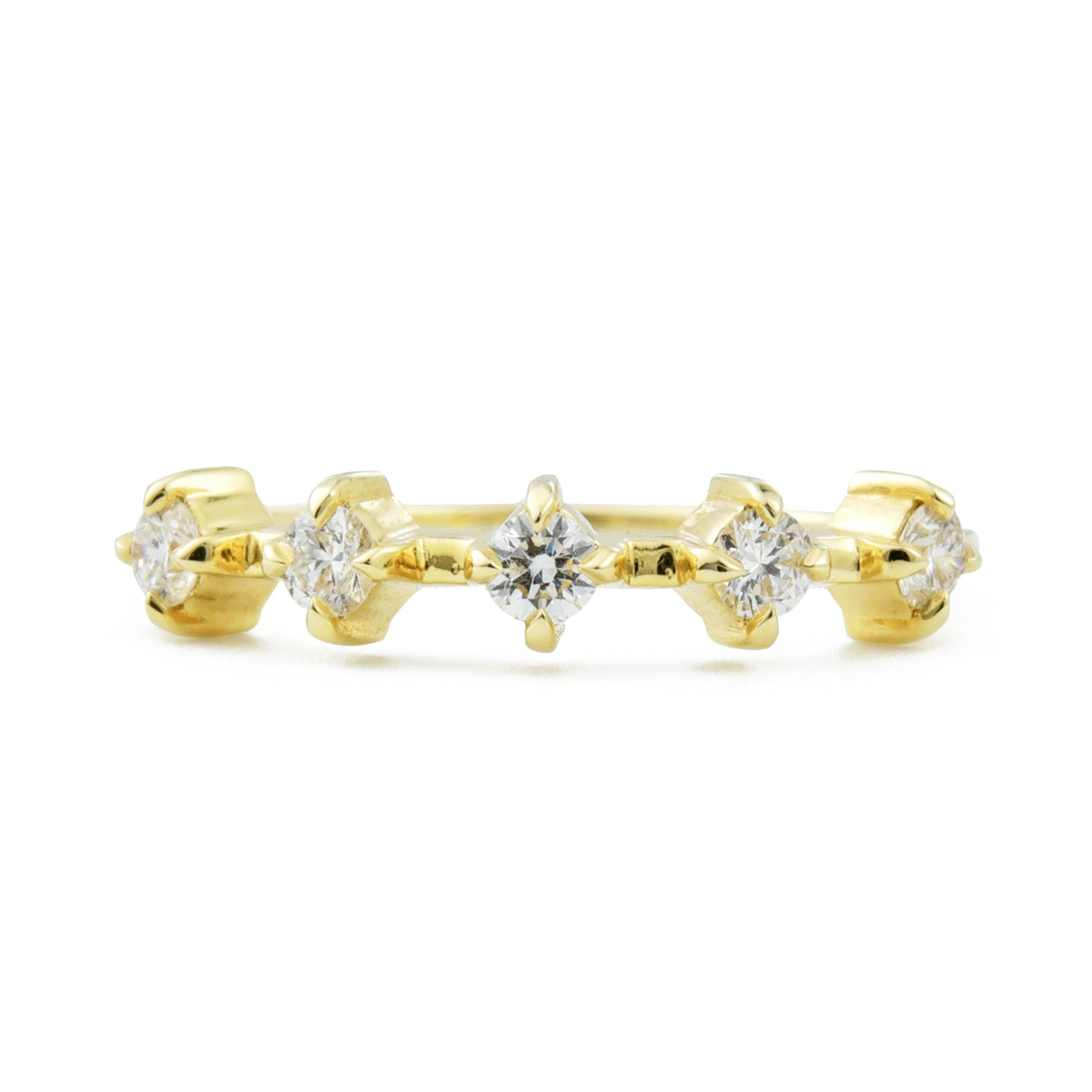Celestial Diamond Band in yellow gold