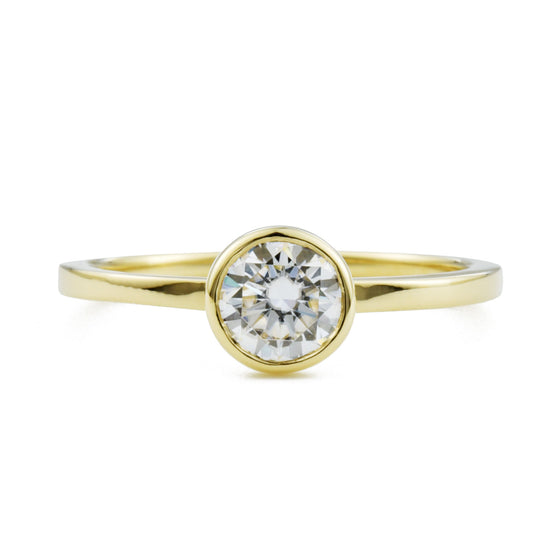 Aura Round Bezel Engagement Ring (.5ct)