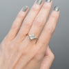 Zara Pear Three Stone Moissanite Engagement Ring