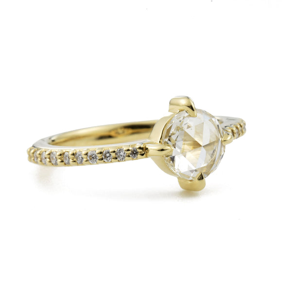 Aria Rose Cut Diamond Engagement Ring (0.85 tcw)