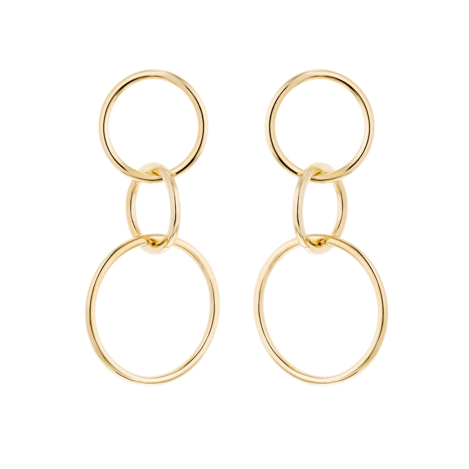 14K Gold Chain Link Earrings