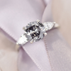2.23ct Zara Salt & Pepper Diamond Engagement Ring on a ribbon