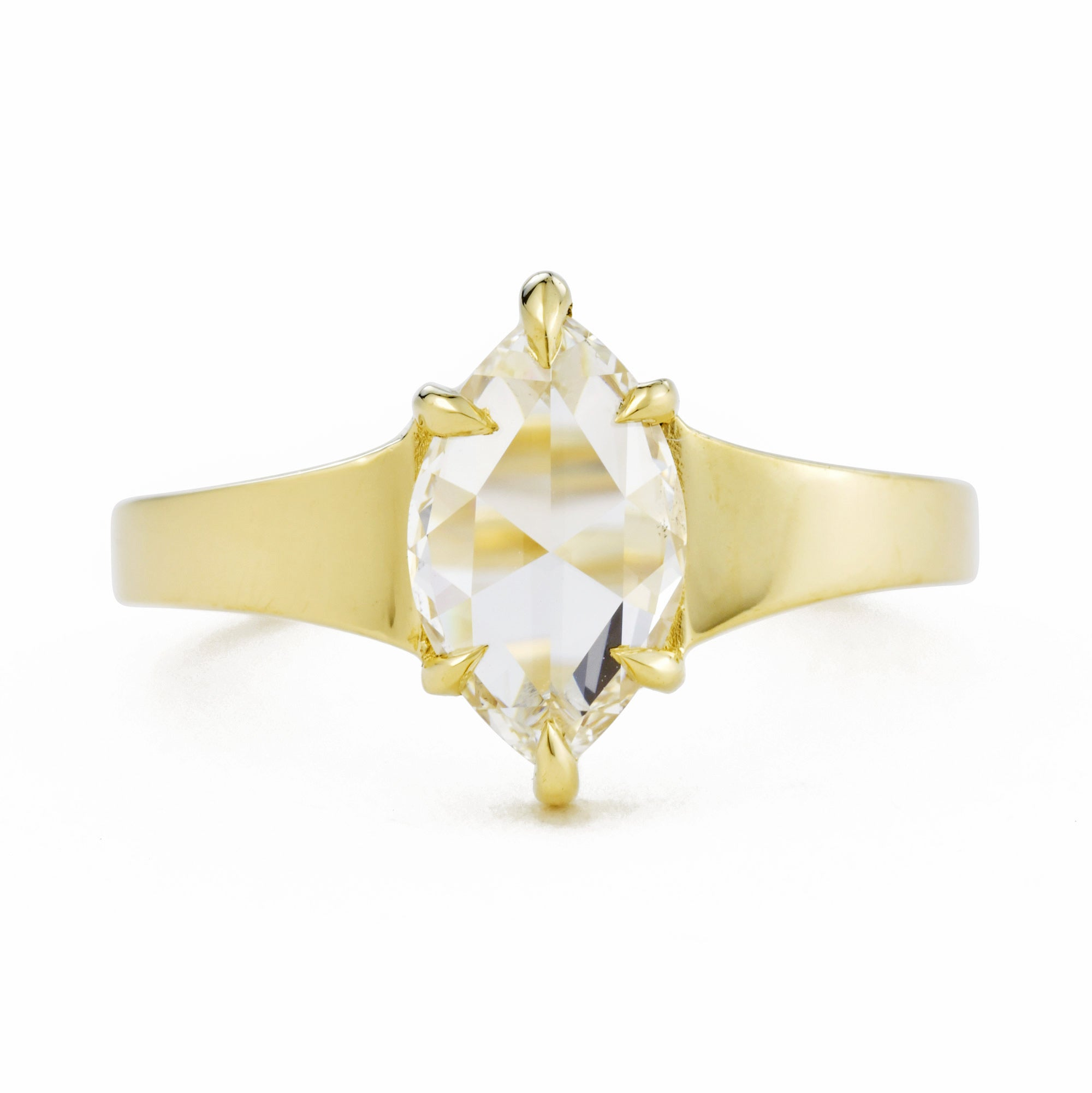 Astrid Colorless Marquise Diamond Engagement Ring