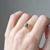 1.15ct Luna Oval Blue Sapphire and Diamond Engagement Ring (Size 6)