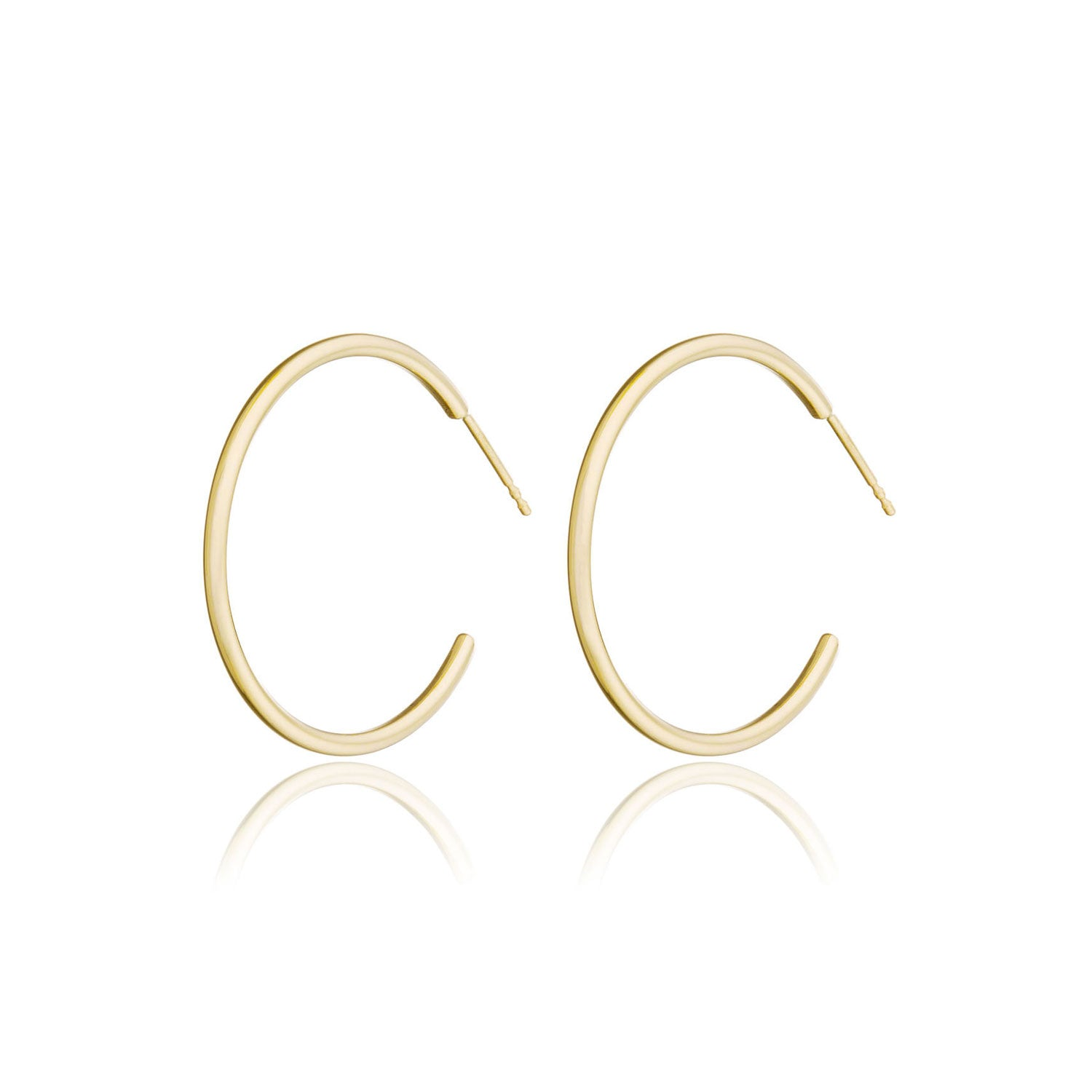 "14K Gold Medium Hoops (1"")"