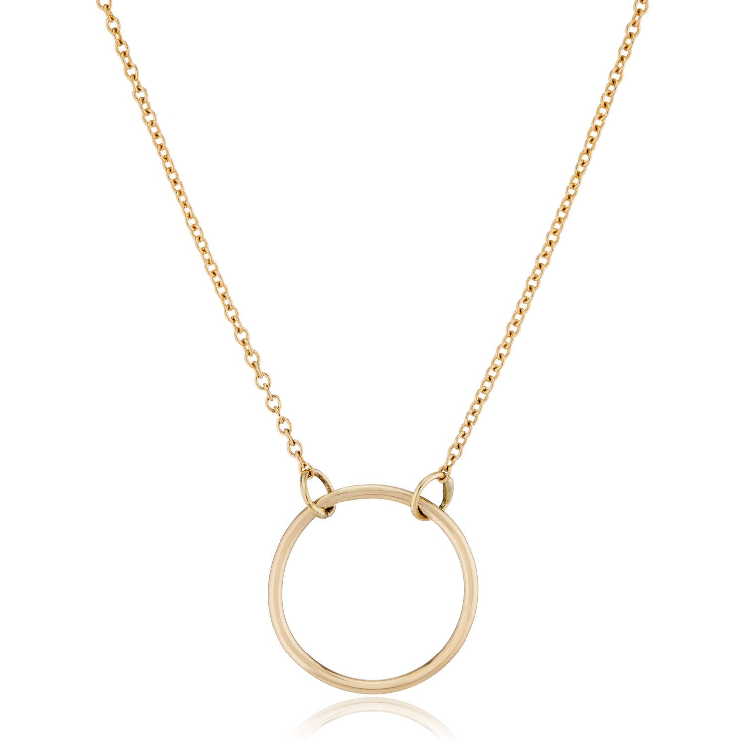 14K Yellow Gold Circle Necklace by Valerie Madison