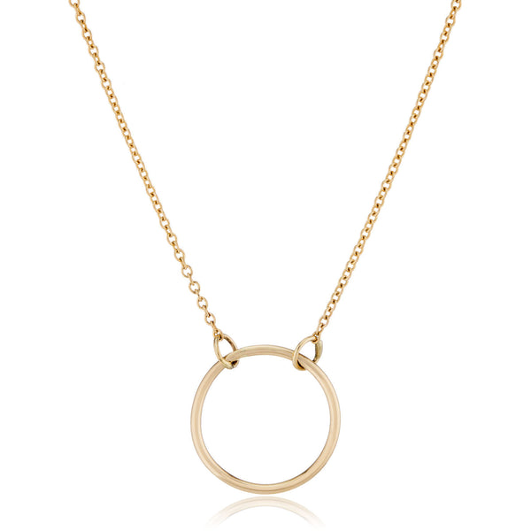 14K Gold Circle Necklace by LilyEmme Jewelry