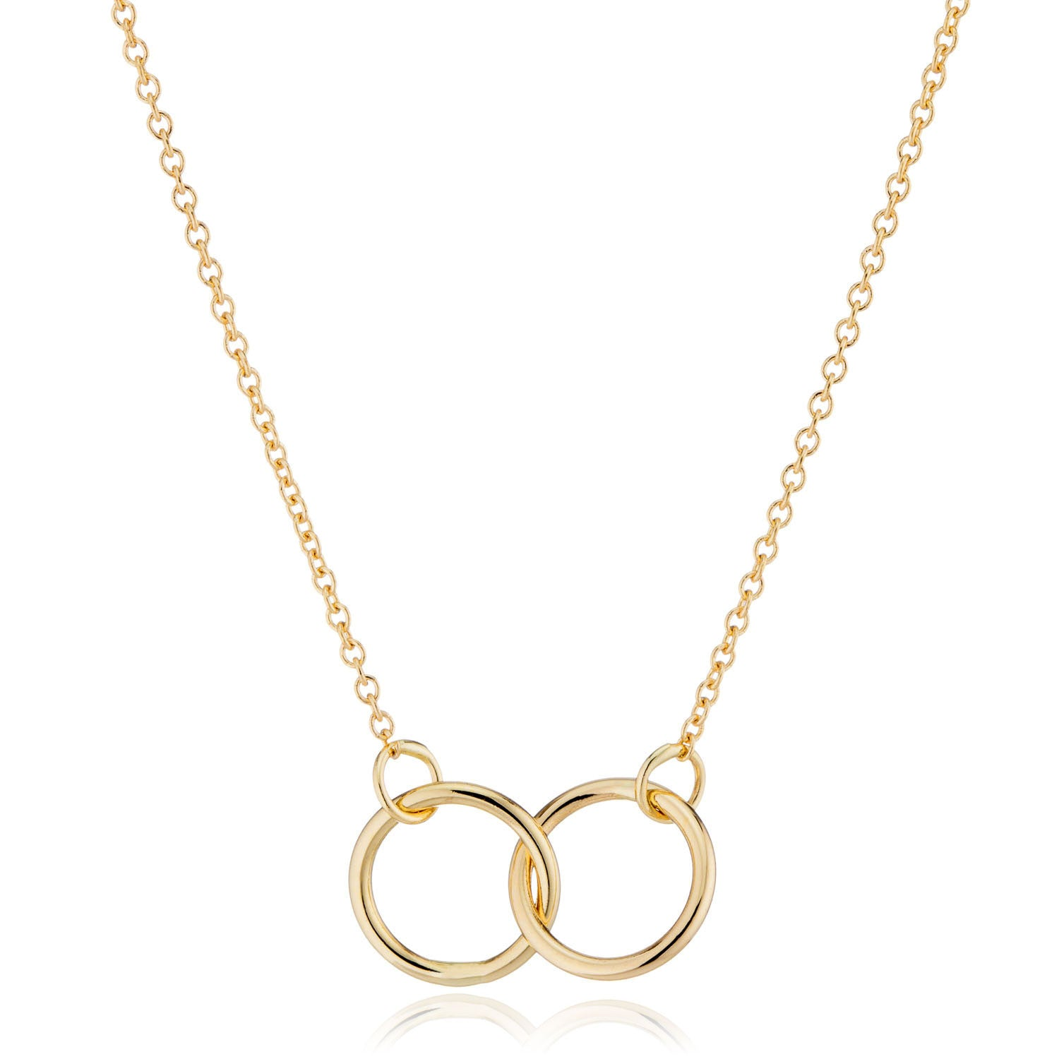 14K Gold Interlocking Rings Necklace by Valerie Madison Jewelry