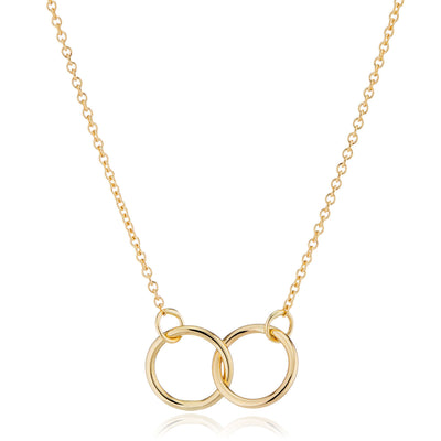 14K Gold Interlocking Rings Necklace by LilyEmme Jewelry