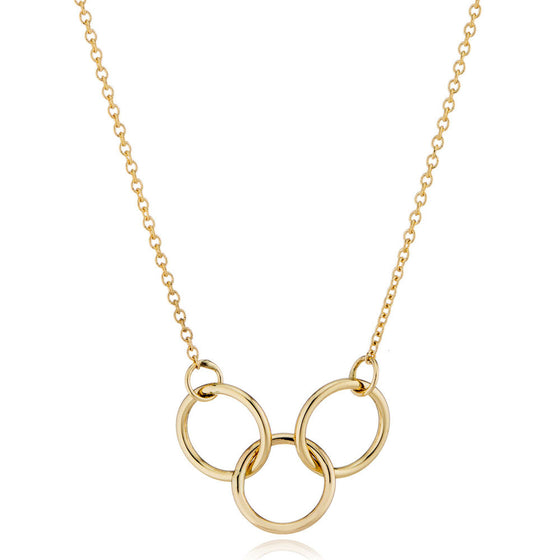 14K Gold Interlocking Trio Necklace by LilyEmme Jewelry