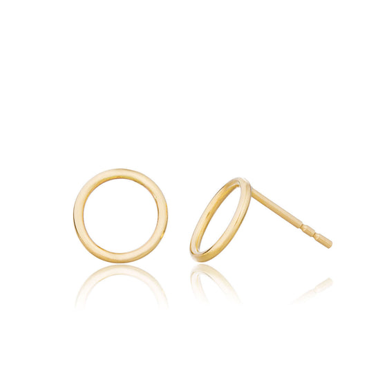 14K Gold Open Circle Studs