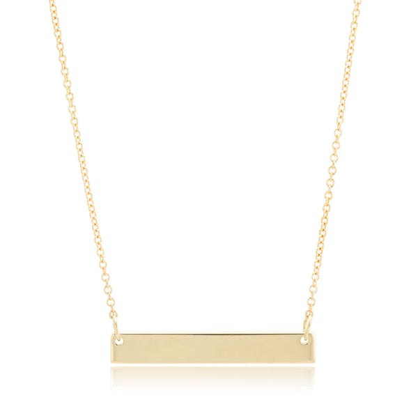 Small 14K Gold Bar Necklace