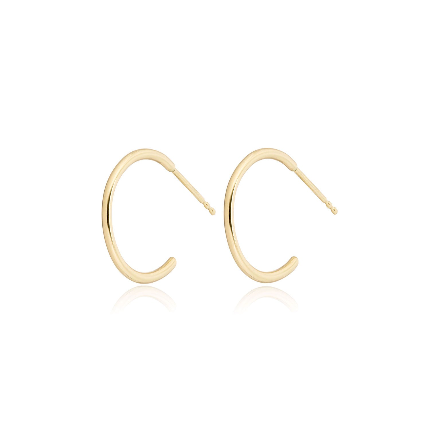14k Yellow gold half inch  hoop earrings