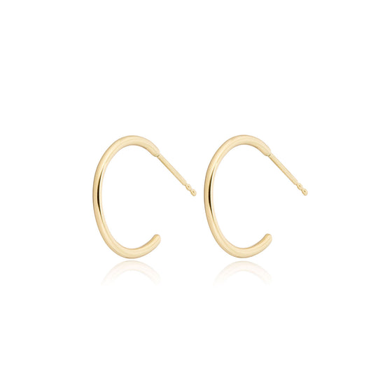 "14K Gold Small Hoops (1/2"")"
