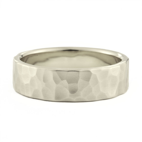 Men's 6mm Hammered Wedding Band