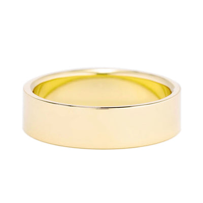 6mm Men's Flat Wedding Band