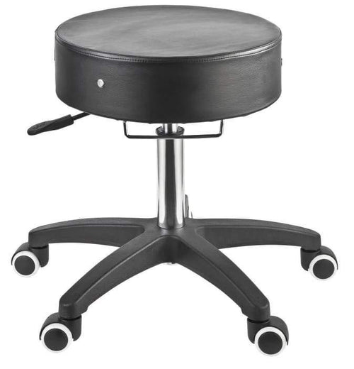 Adjustable Rolling Stool For Estheticians - Black