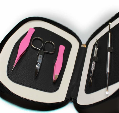 Comedone Extractor Tweeze And Trim Tool Kit - Estyspot Exclusive - Esthetician Equipment