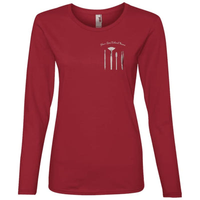 Customized Esty Tools Shirts - Longsleeve - Independence Red / Small - T-Shirts