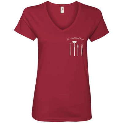Customized Esty Tools V-Neck - Independence Red / Small - T-Shirts