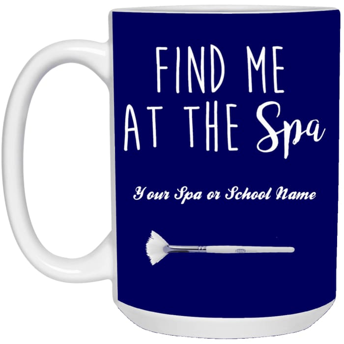 Customized Find Me At The Spa Mug - Purple / One Size - Accessories