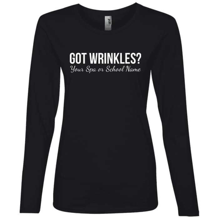 Customized Got Wrinkles Long Sleeve T-Shirt - Black / Small - T-Shirts