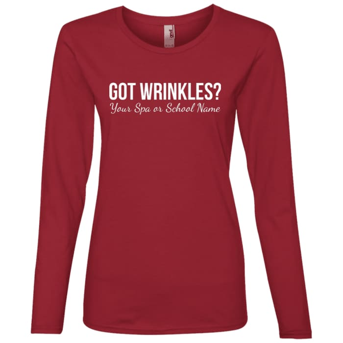 Customized Got Wrinkles Long Sleeve T-Shirt - Independence Red / Small - T-Shirts