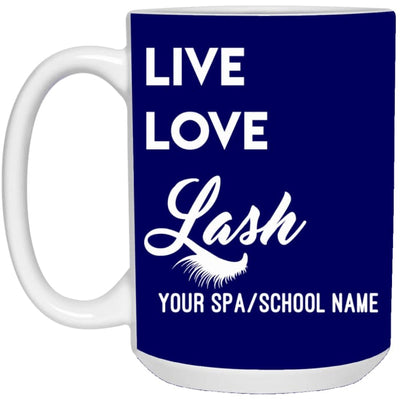 Customized Live Love Lash Mug - Navy / One Size - Accessories