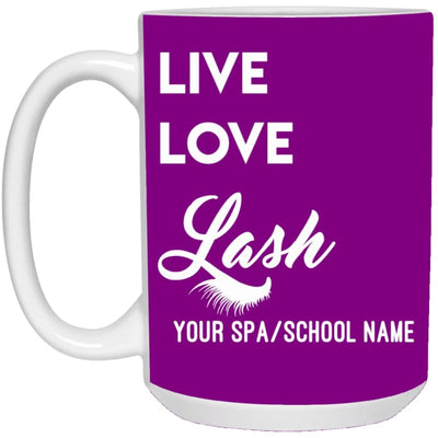 Customized Live Love Lash Mug - Purple / One Size - Accessories