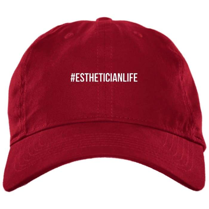 #estheticianlife Dad Hat - Red / One Size - Hats
