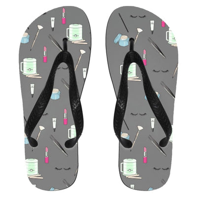 Esty Print Flip Flops - Flip Flops - Small / Gray / One Size - Apparel