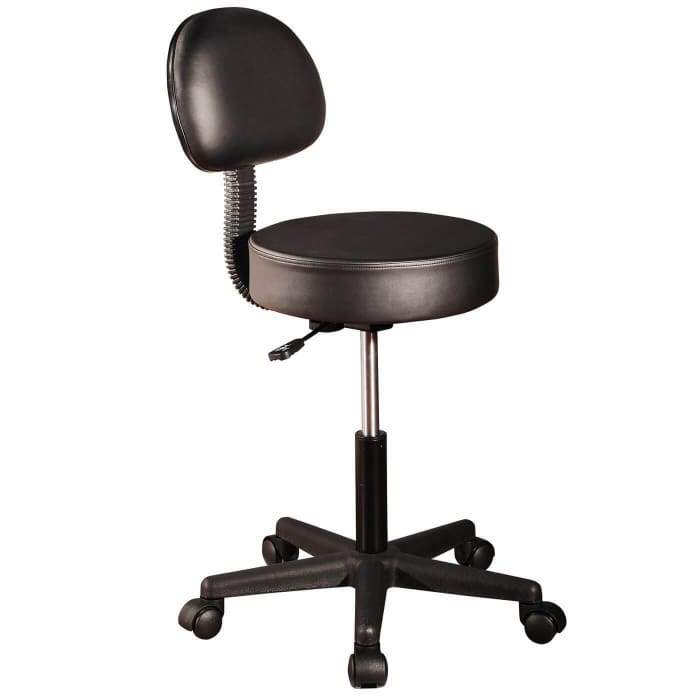 Facial Chair With Back-Rest - Black