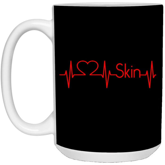 Heartbeats For Skin Mug - Mug - 15Oz / Black / One Size - Apparel