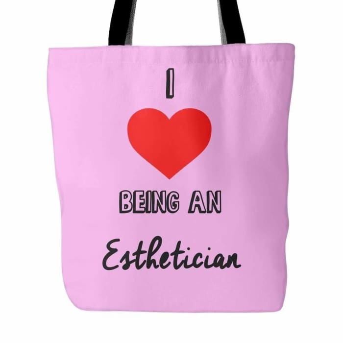 I Love Being An Esthetician Tote Bag - Pink - Tote Bags