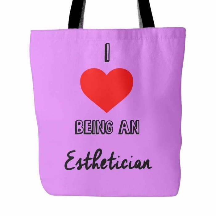 I Love Being An Esthetician Tote Bag - Lavender - Tote Bags