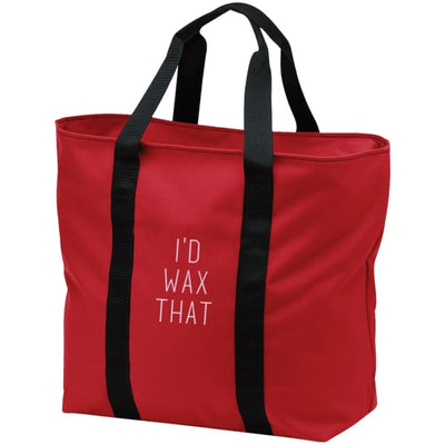 Id Wax That All Purpose Tote Bag - Red/black / One Size - Bags