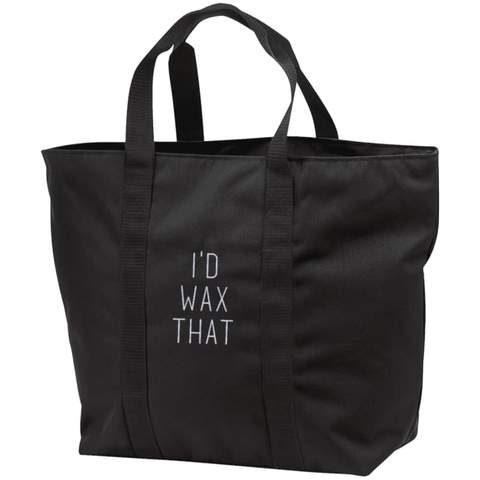 CLEARANCE I'd Wax That All Purpose Tote Bag